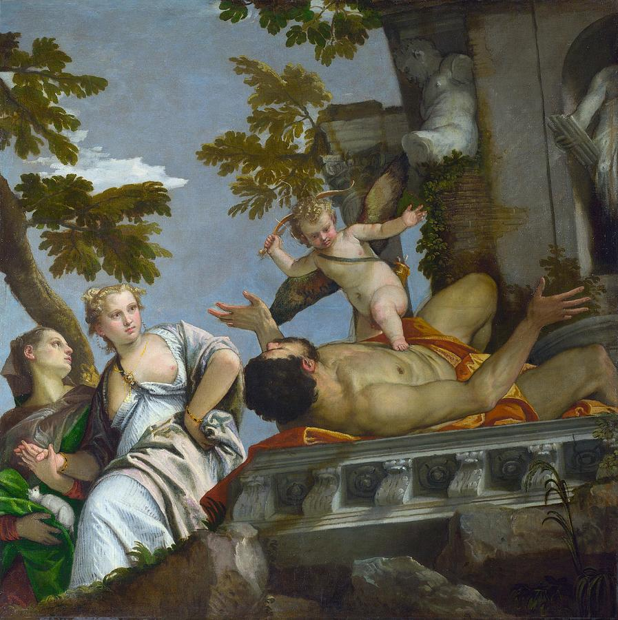 1575 Painting - Scorn by Paolo Veronese