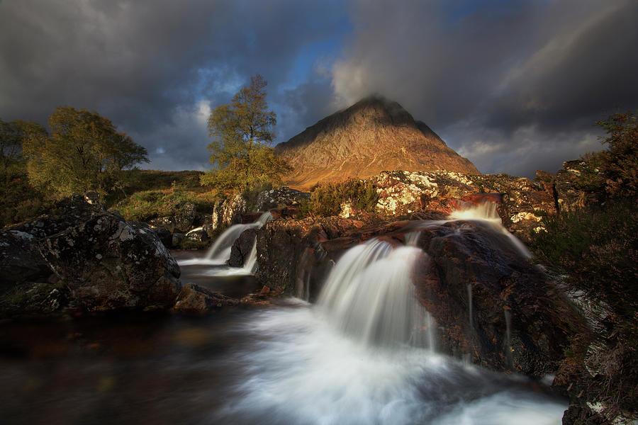 Waterfall Photograph - Scotland by Krzysztof Nowakowski