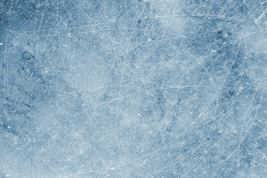 Scratched Ice background Photograph by Sbayram