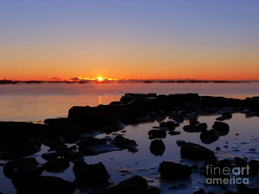 Sea Smoke Sunrise by Christine Stack