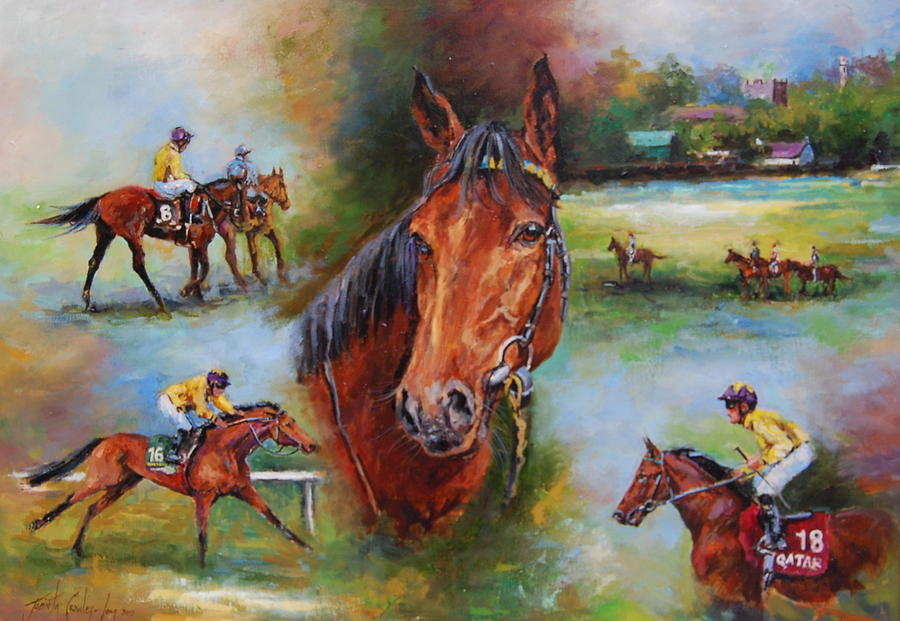 Race Horse Painting - Sea The Stars by Jacinta Crowley-Long