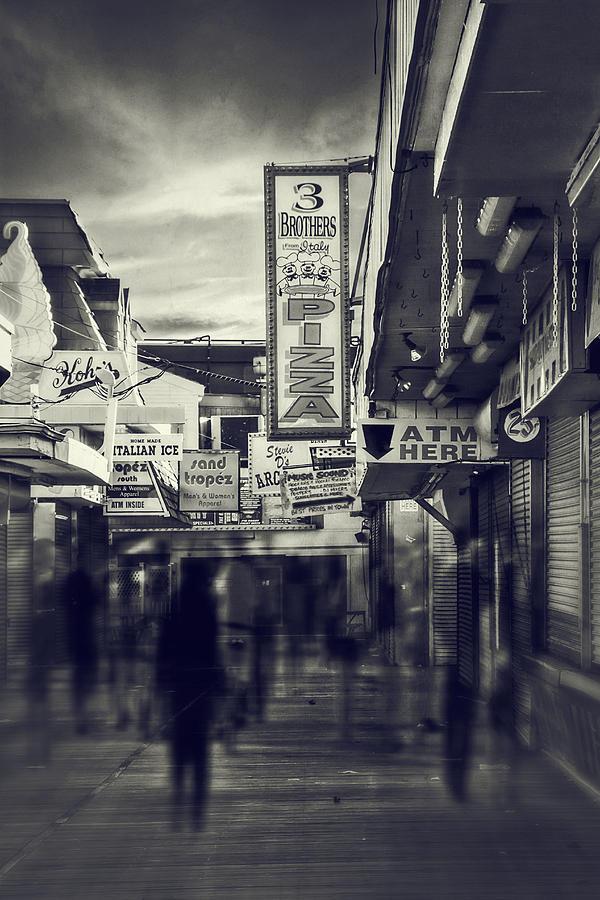 Amusement Park Photograph - Seaside Boardwalk by Kim Zier
