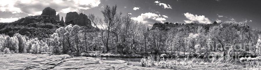 Sedona Arizona Photograph - Sedona Arizona Cathedral Rock Panorama by Gregory Dyer
