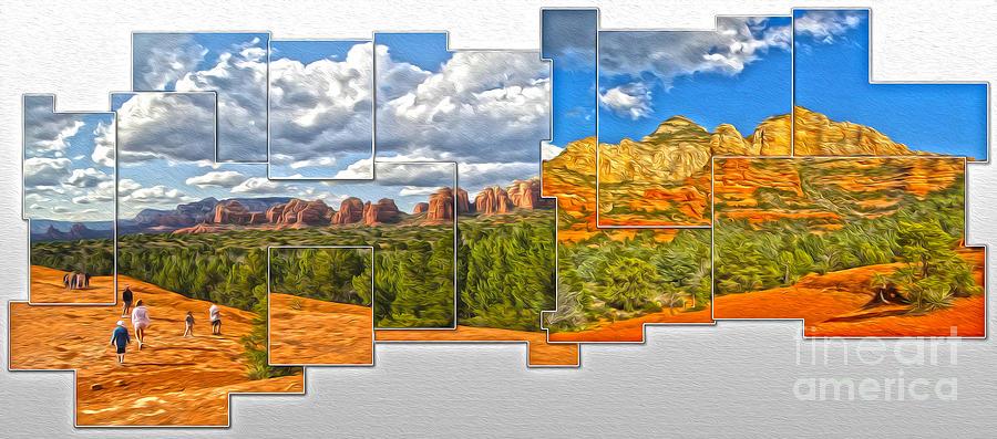 Sedona Arizona Painting - Sedona Arizona - Submarine Rock by Gregory Dyer