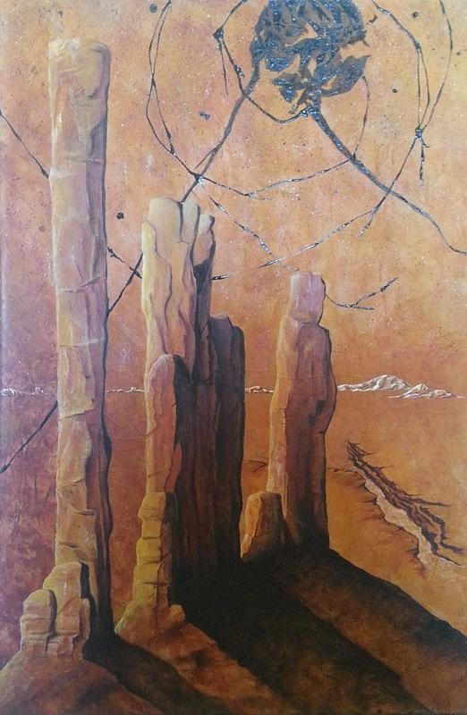 Nature Painting - Sentinals by Ashley Coll