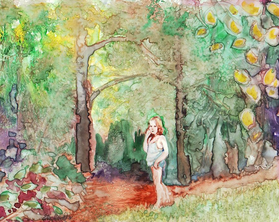 Woodland Painting - September Nymph by Ellen Howell
