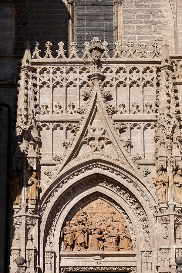 Seville Photograph - Seville Cathedral Ornamentation by Artur Bogacki