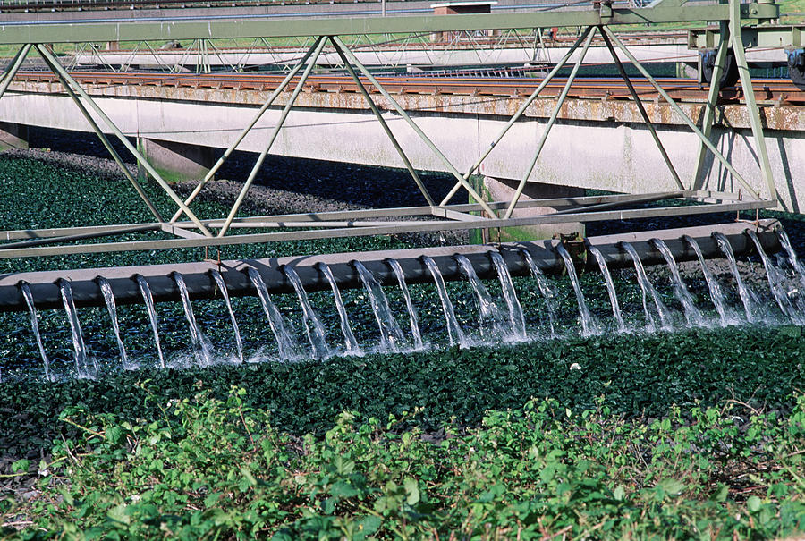 Sewage Photograph - Sewage Works by Robert Brook/science Photo Library