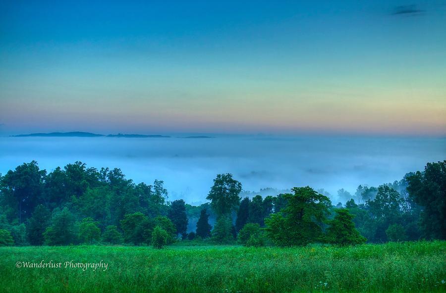 Blue Smoke Photograph - Shaconage Land Of The Blue Smoke by Paul Herrmann