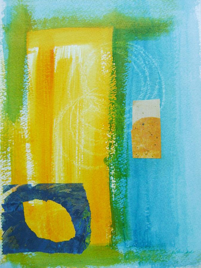 Abstract Mixed Media - Shades Of Summer by Katherine Sands