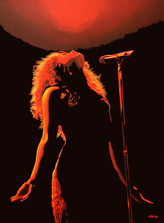 Shakira Painting - Shakira by Paul Meijering