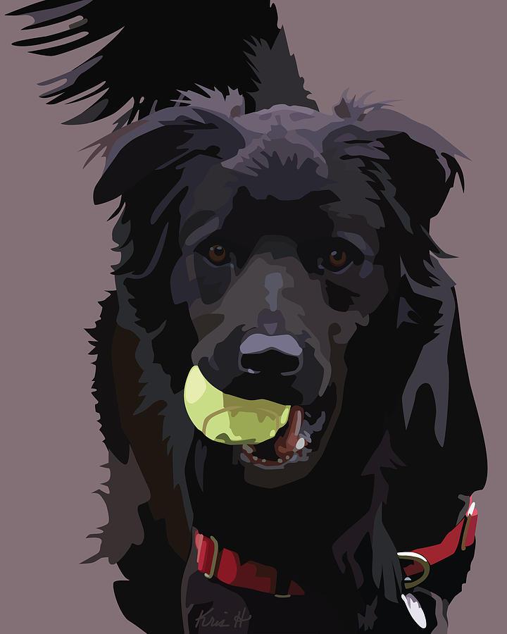Shelter Dog Digital Art - Sheltered II by Kris Hackleman