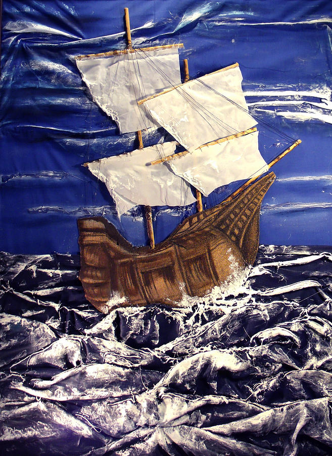 Ship Mixed Media - Ship by Angela Stout