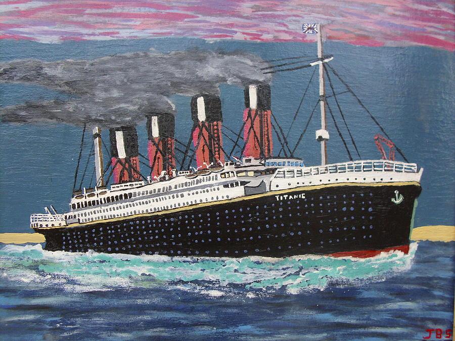 Titanic Painting - Ship Of Dreams by Jose Bernal