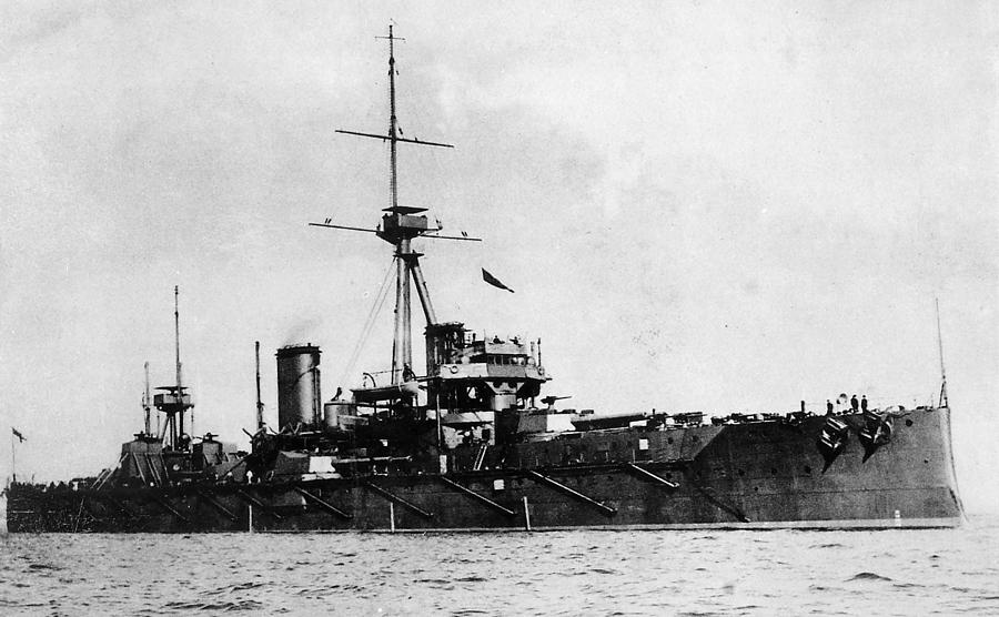 1906 Photograph - Ships Hms dreadnought by Granger