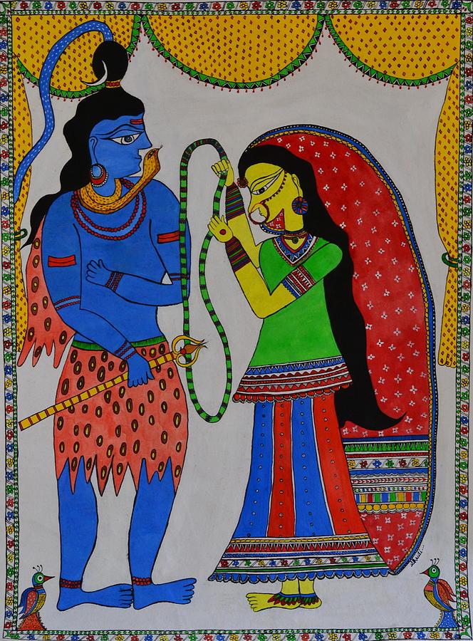 Shiv Parvati Painting - Shiv Parvati by Shruti Prasad