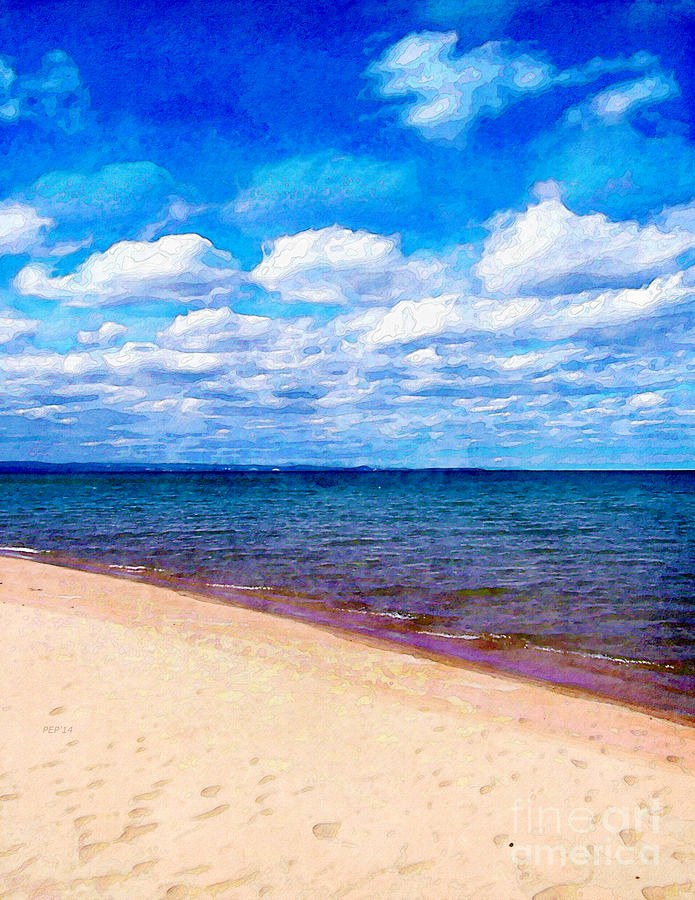 Michigan Digital Art - Shores of Lake Superior by Phil Perkins