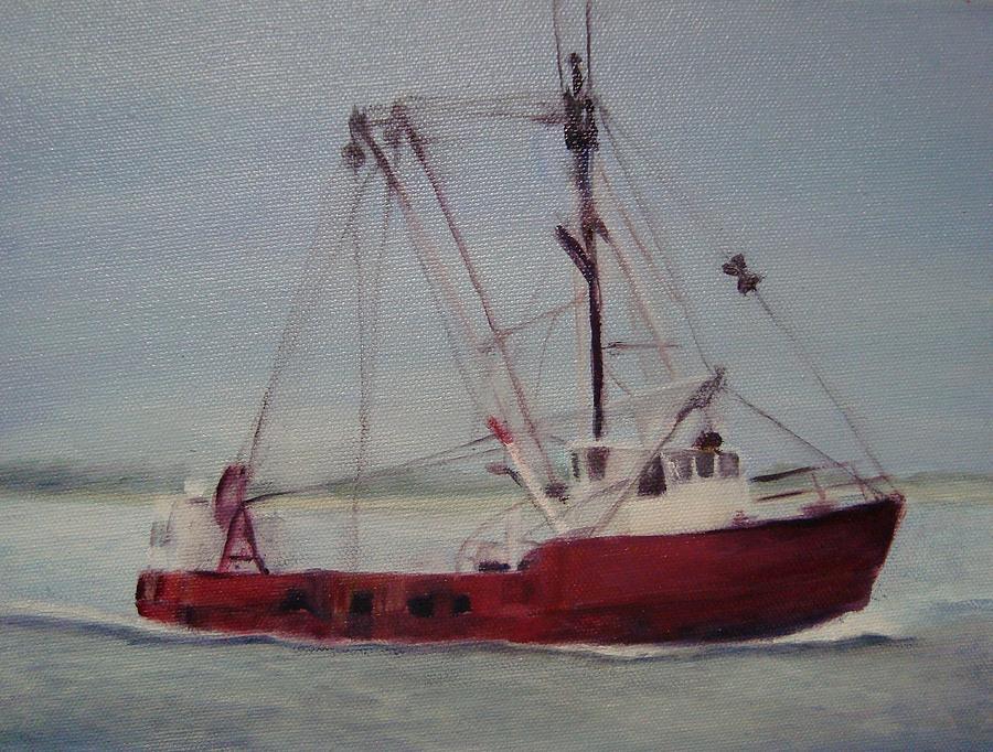 Boat Painting - Shrimp Boat by Sheila Mashaw