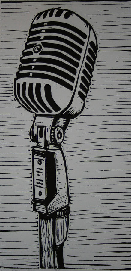 Mic Drawing - Shure 55s by William Cauthern