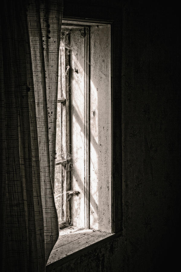 Window Photograph - Shying From The Light by Odd Jeppesen