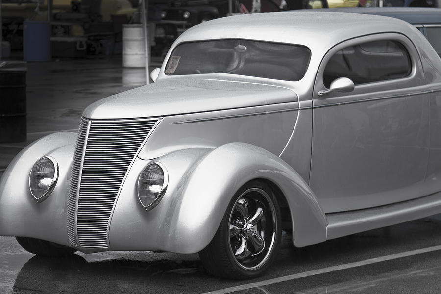 American Photograph - Silver Ford by Jack R Perry