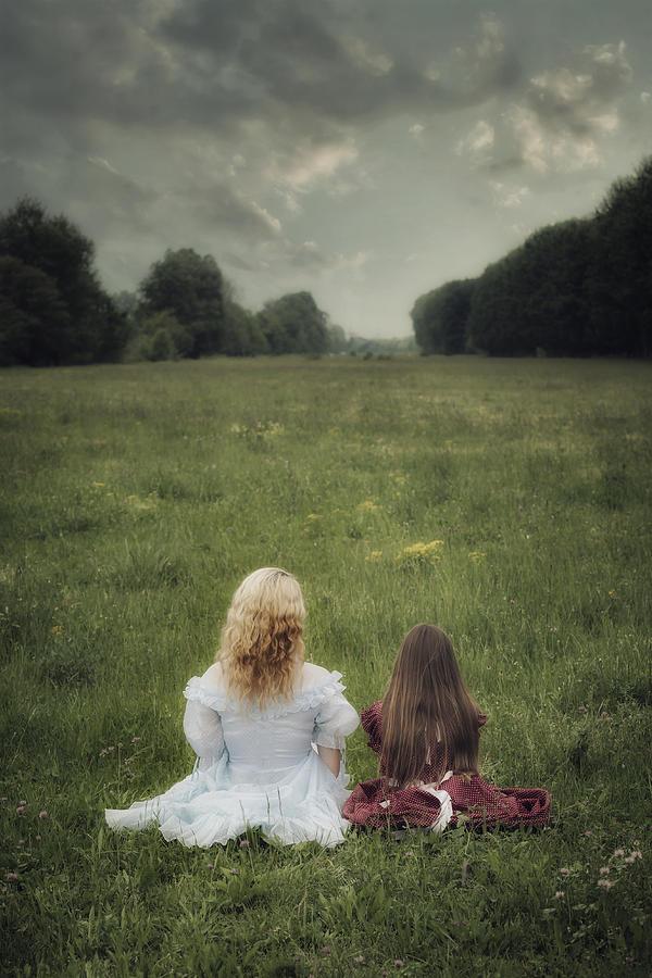 Girl Photograph - Sisters by Joana Kruse