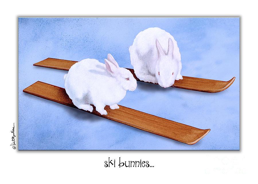 Will Bullas Painting - Ski Bunnies... by Will Bullas