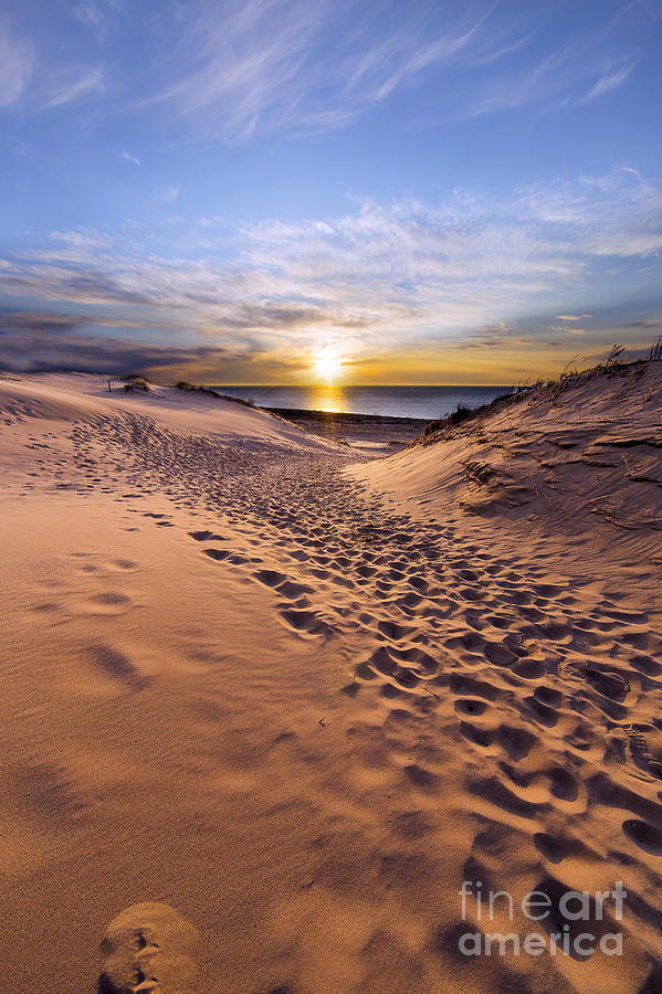 Sleeping Photograph - Sleeping Bear Dunes Sunset by Twenty Two North Photography