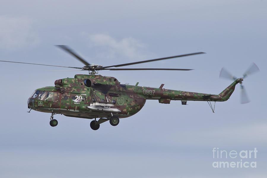 Slovakian Mi-17 With Digital Camouflage Photograph