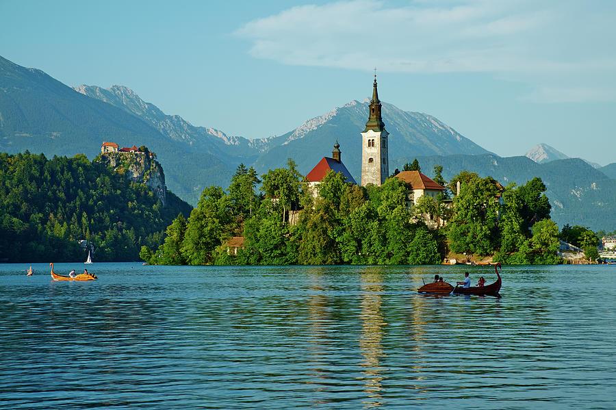 Slovenia, Bled, Lake Bled And Julian Photograph by Tuul & Bruno Morandi