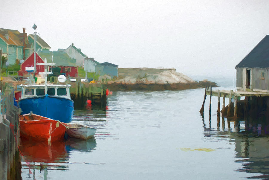 Atlantic Photograph - Boats In Peggys Cove by Boss Photographic