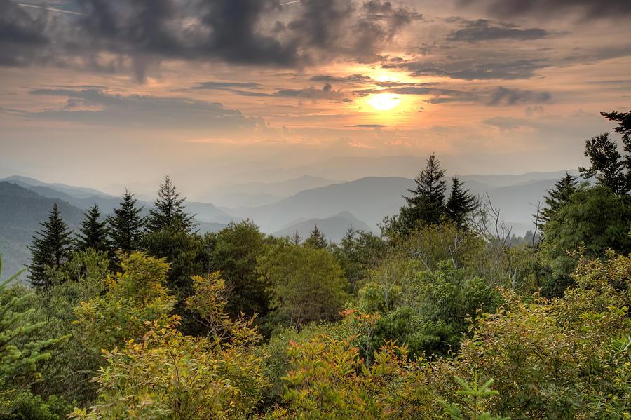 Mountains Sunset Photograph - Smokies Sunset by Doug McPherson