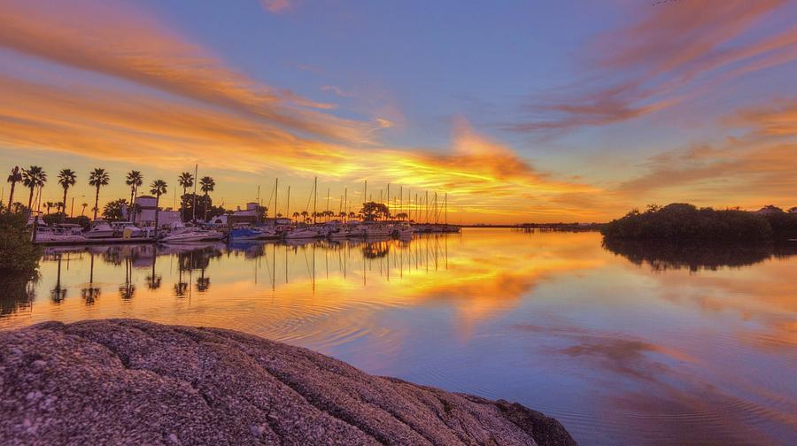 Smyrna Yacht Club Sunrise II Photograph by Danny Mongosa