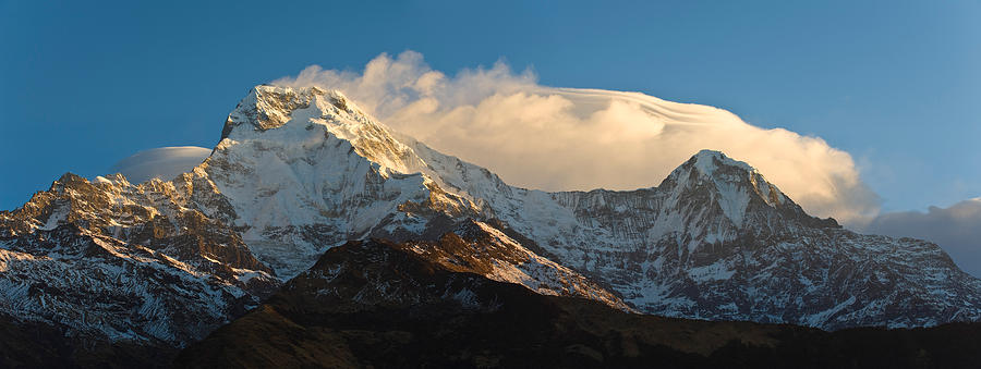 Color Image Photograph - Snowcapped Mountains, Hiunchuli by Panoramic Images