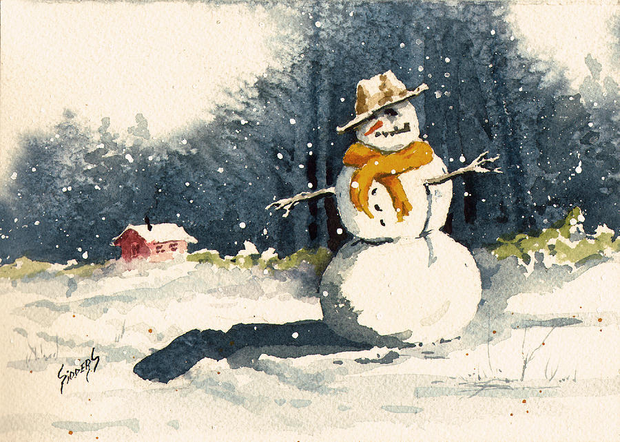 Cold Painting - Snowman by Sam Sidders