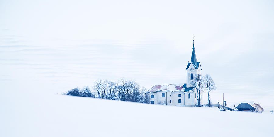 Church Photograph - Snowy Church by Ian Middleton