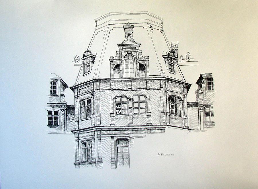 Palace Painting - Sobanski Palace by Nel Kwiatkowska