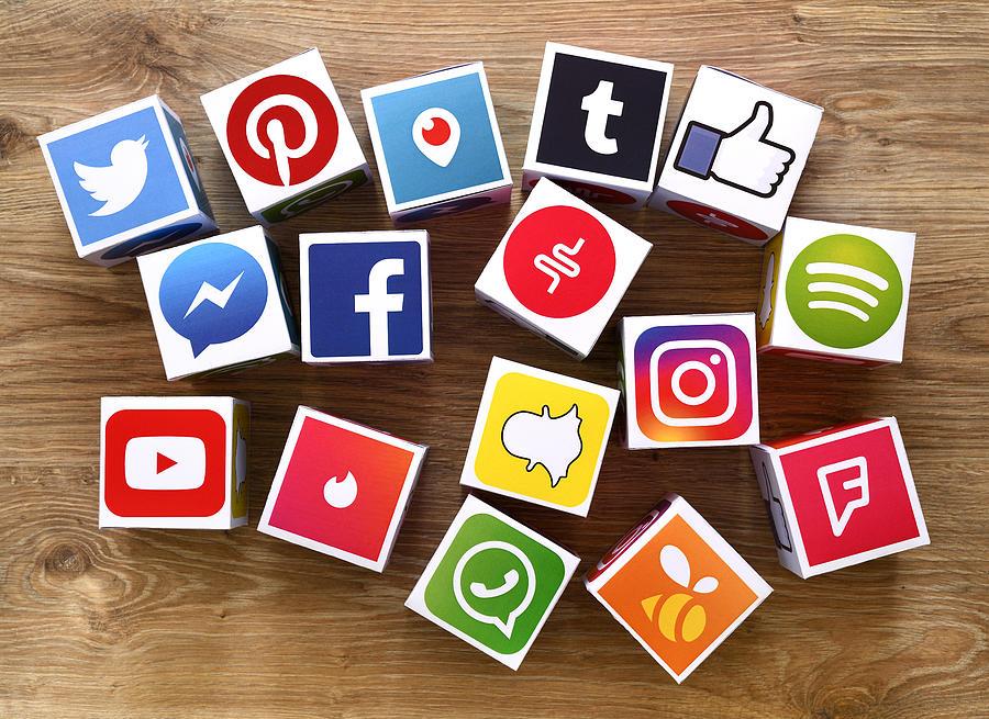 Social Media Cubes 1 Photograph by Hocus-focus
