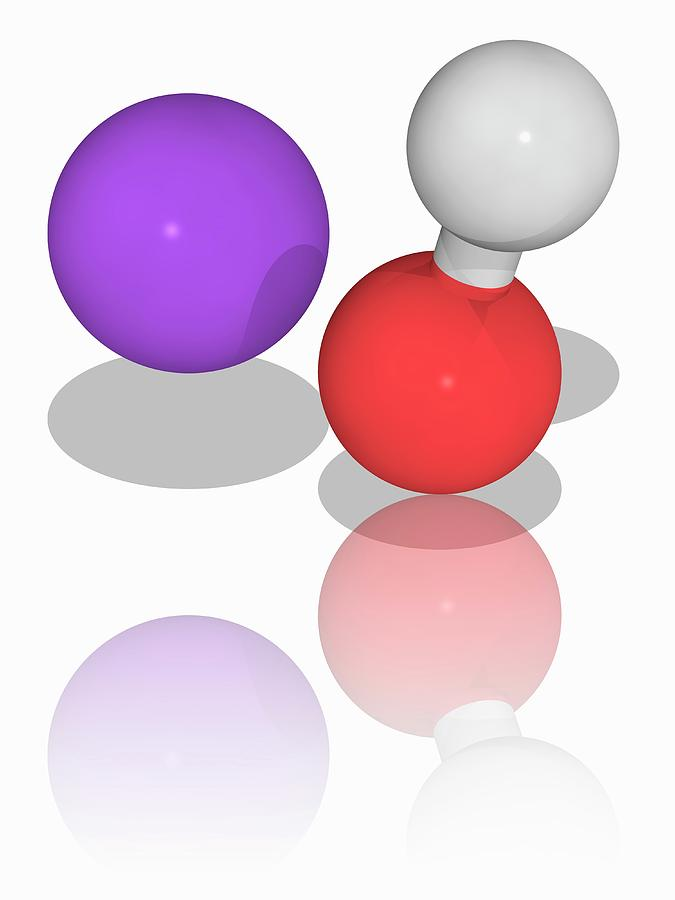 Sodium Hydroxide Chemical Compound Molecule Photograph by ...