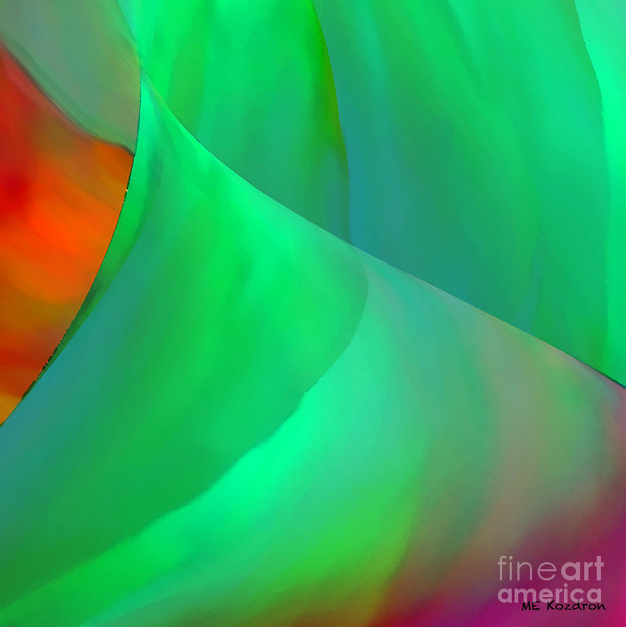 Abstract Digital Art - Softly by ME Kozdron