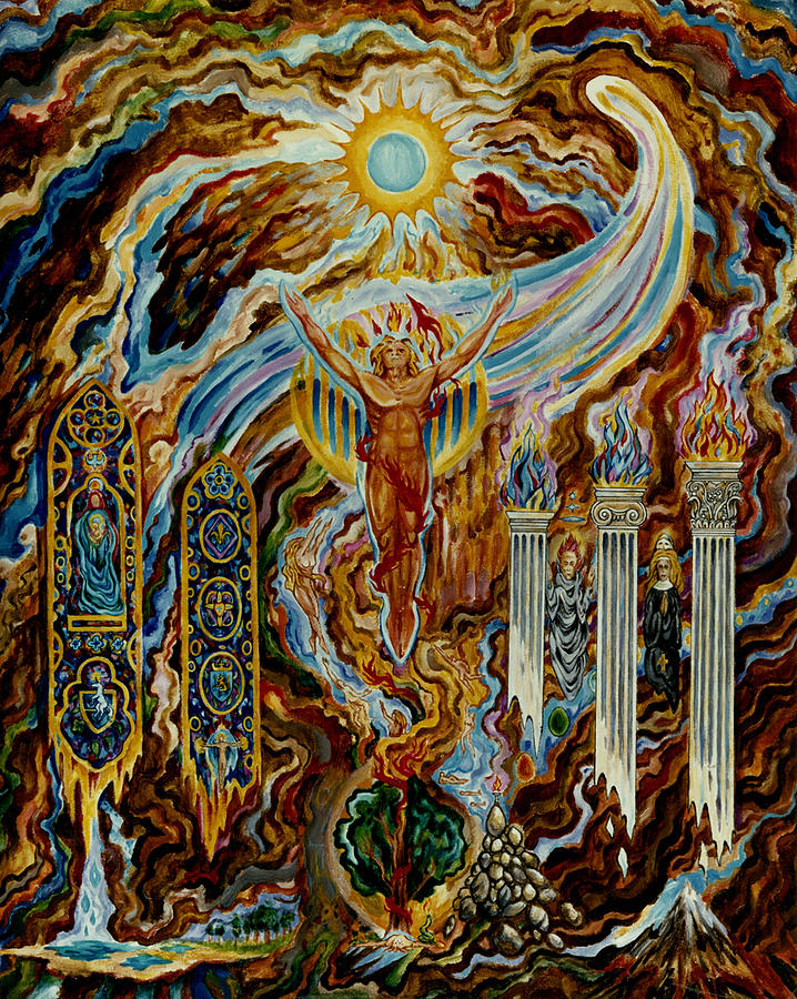 Sol Invictus Mysteries Of The Christos Painting By