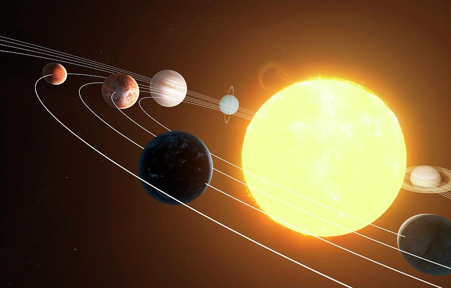 Solar System, Artwork Digital Art by Sciepro