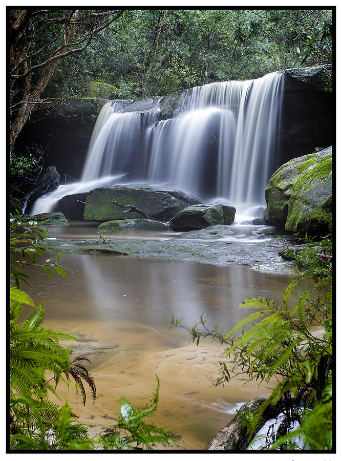 Water Fall Photograph - Somersby Falls by Steve Caldwell