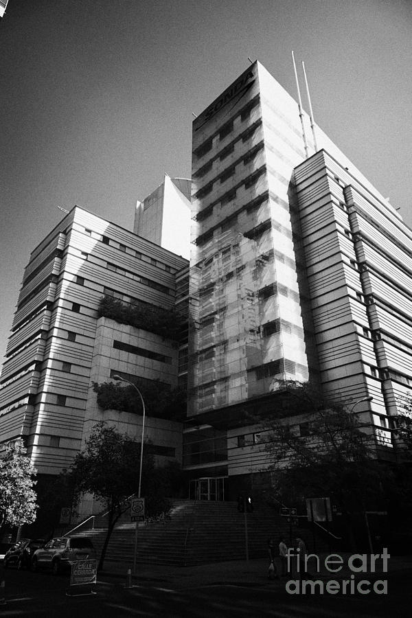 Sonda Photograph - sonda it company headquarters Santiago Chile by Joe Fox