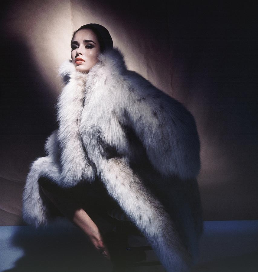 Fashion Photograph - Sondra Peterson Wearing Fur Coat by Horst P. Horst