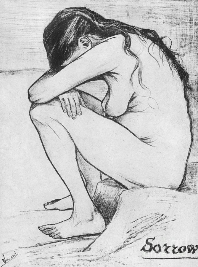 Vincent Van Gogh Drawing - Sorrow  by Vincent Van Gogh