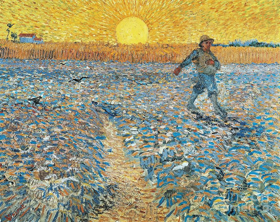 Europe Painting - Sower by Vincent van Gogh