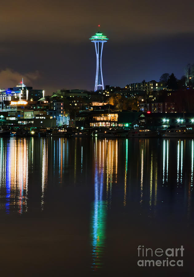 Space Photograph - Space Needle by Eddie Yerkish