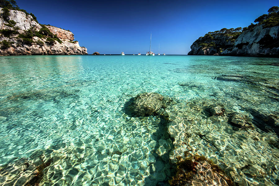 Spain, Menorca, View Of Cala Macarella Photograph by Westend61