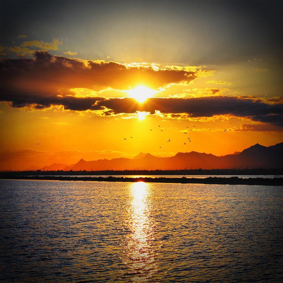 Sun Photograph - Spanish Sunset by Angel Eowyn